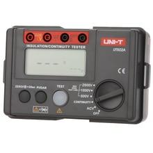 UNI-T UT502A 2500 V Resistencia de Aislamiento Tester Megohmmeter Voltímetro Continuidad Tester w/luz de Fondo del LCD