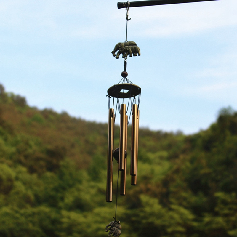 Household Retro Copper Wind Chimes Tube Rust proof Church Blessing Wind Chimes Metal Wall Hanging Home Decoration crafts in Wind Chimes Hanging Decorations from Home Garden