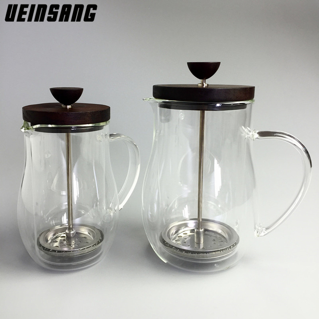 350ML 600ML French Press Coffee Pot Double Wall Glass Espresso Stainless Steel Filter Coffee Maker Tea Strainer Tools Tea Pot