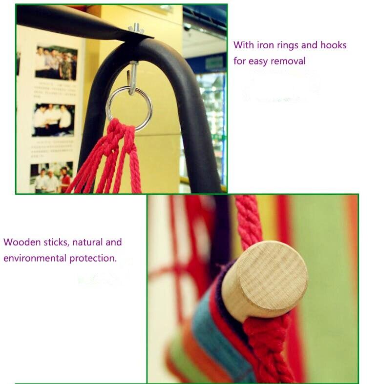algodão Respirável Confortável cadeira de balanço rede
