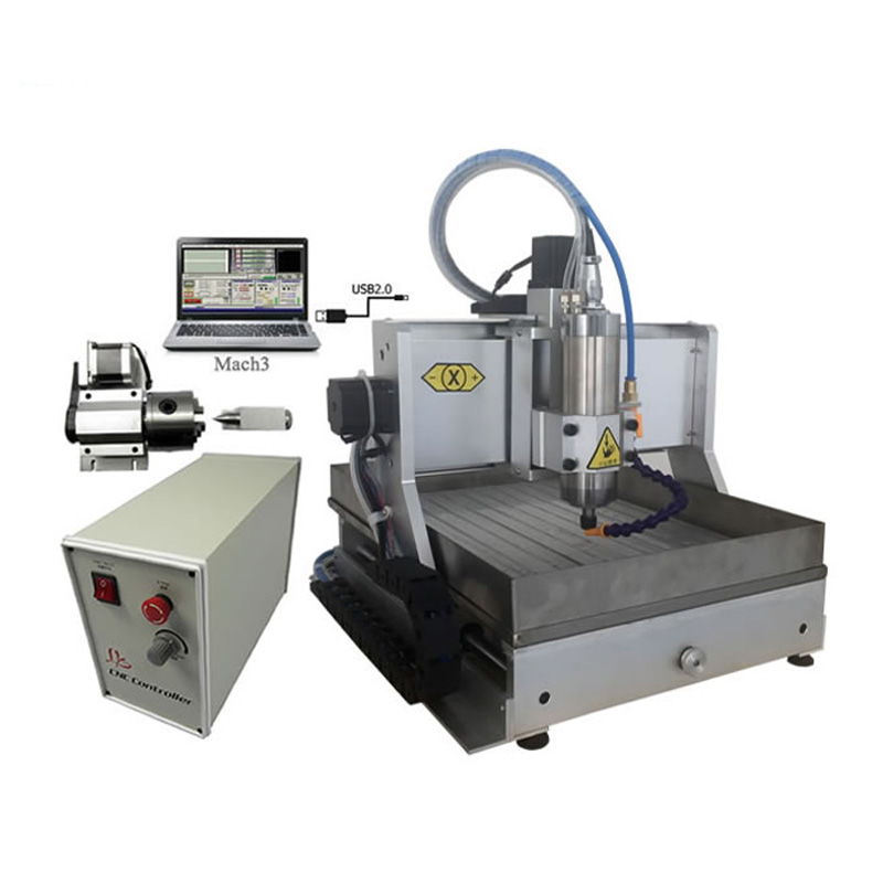 LY 3020 Z-VFD 1.5KW 4 Axis USB Port Mini CNC Milling Machine With 1500W Spindle And Water Tank