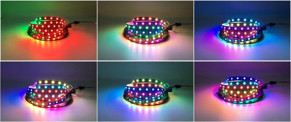 HTB1cngCmNPI8KJjSspfq6ACFXXaZ DC5V WS2812B 30/60/144 leds/m Smartled pixel RGB individually addressable led strip light Black/White PCB IC WS2812 pixel strips