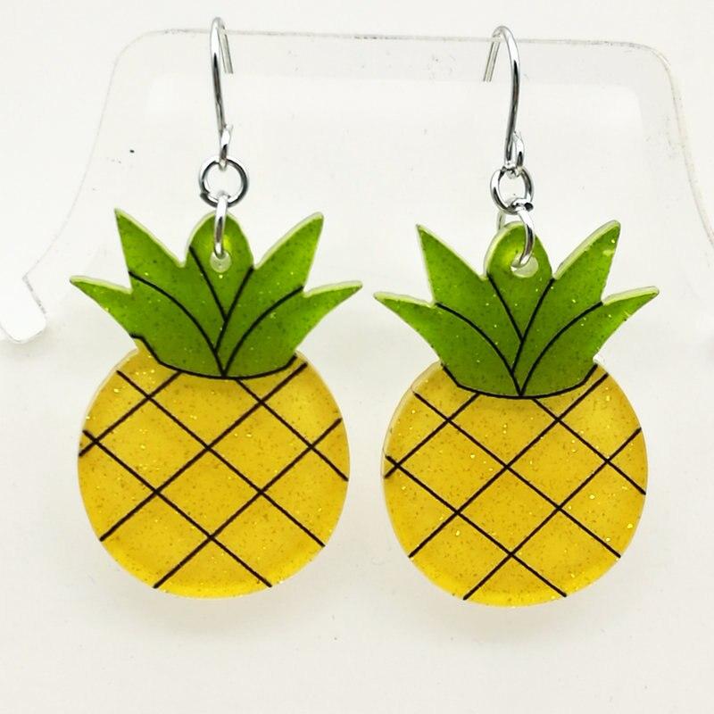 4 пары Бесплатная доставка Модные серьги yakeli ананас фруктов