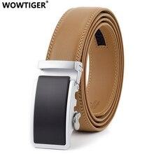 WOWTIGER Designer Luxury 3.5cm Genuine leather mens belt mal