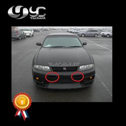 Samochód stylizacji FRP z włókna szklanego kanału otwory wentylacyjne nadające się do 1995-1998 panoramę R33 GTR NI N1 styl przedni zderzak kanału otwory wentylacyjne