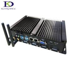 Безвентиляторный мини настольных Промышленные ПК Intel Celeron 1037U Dual Core с Оперативная память + SSD + HDD, 2 * lan, 4 * COM RS232, USB 3.0, HDMI, Windows 10