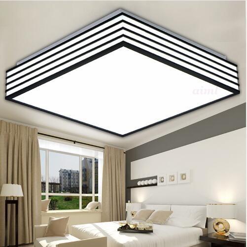 Quadrat modernen Führte Deckenleuchten wohnzimmer lamparas LED ...