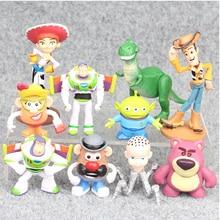 10 шт./лот 7,5-10 см История игрушек 3 Базз Лайтер Вуди Фигурки игрушки Brinquedo модель игрушки рождественские подарки для детей