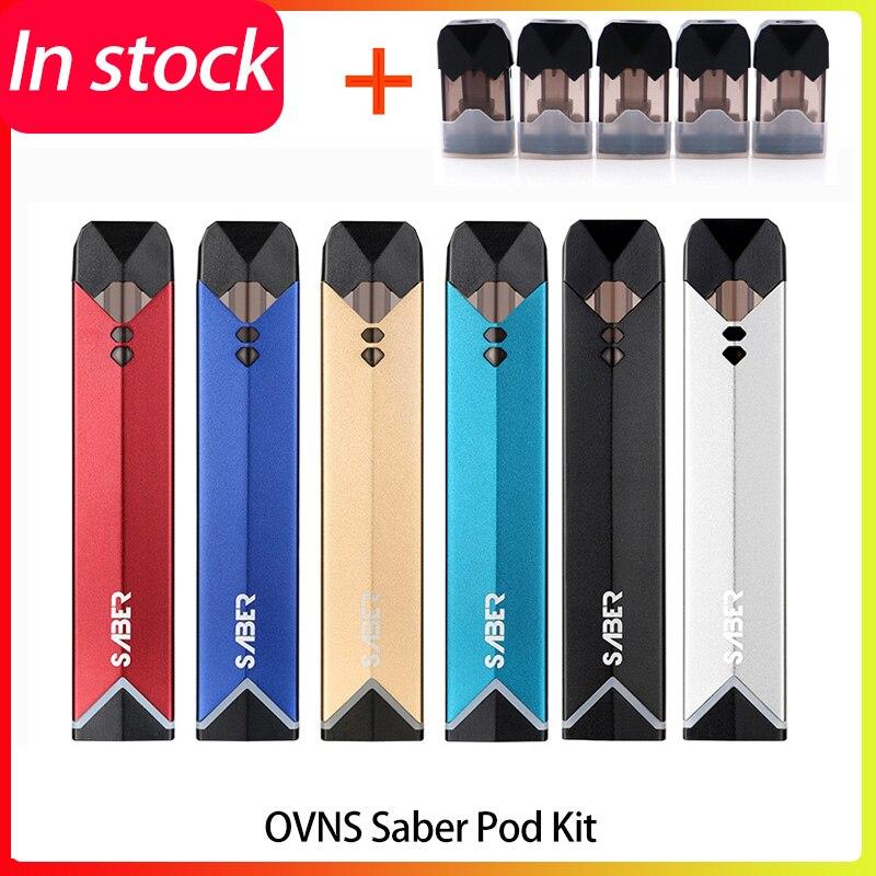Newest Original OVNS Saber Pod Vape Kit All-in-one Kit Electronic Cig Starter Kit Built-in Battery Vs Rofvape Warlock Peas Kit