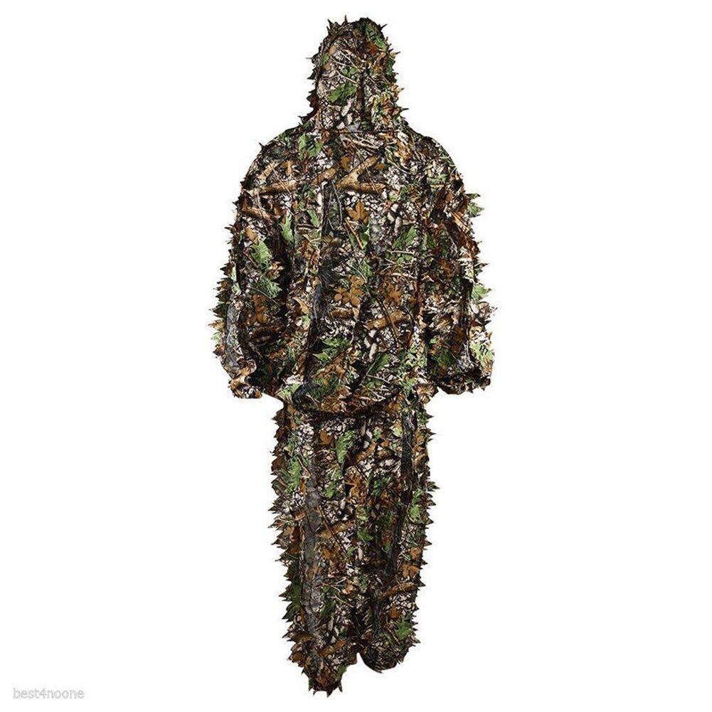 Costume Camouflage pêche/chasse Jungle-sweat à capuche + pantalon taille unique