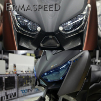 For Yamaha XMAX X MAX 250 300 2017 2018 Motorcycle Acrylic PC Headlight Protection Screen Lens Cover Head Lamp Protector Housing