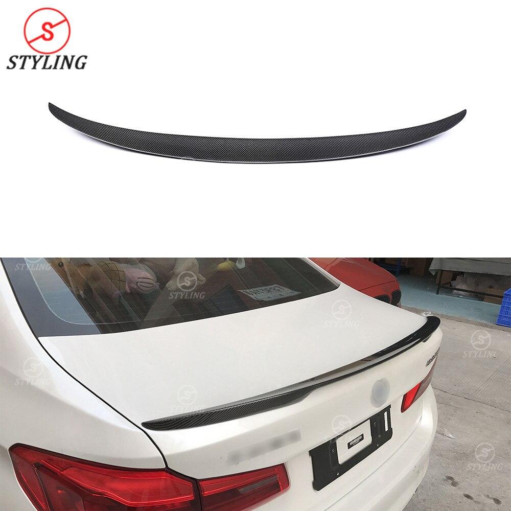 G30 Style de Performance de becquet de carbone pour BMW 525i 530i 540i F90 M5 aileron arrière en Fiber de carbone aile de coffre arrière 2017 2018 2019