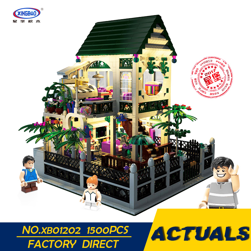 XingBao Lepining City Street Toys For Children The Romantic Heart Set with Light Model Kit Building Blocks Educational DIY Gifts