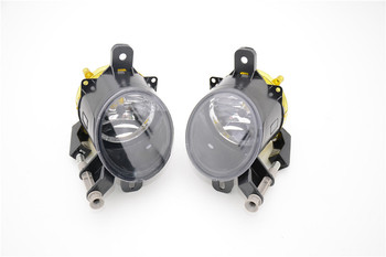 1Pair Replacement Front Bumper Fog Light Lamp Clear Lens With Bulb For Cadillac SRX 2010-2015