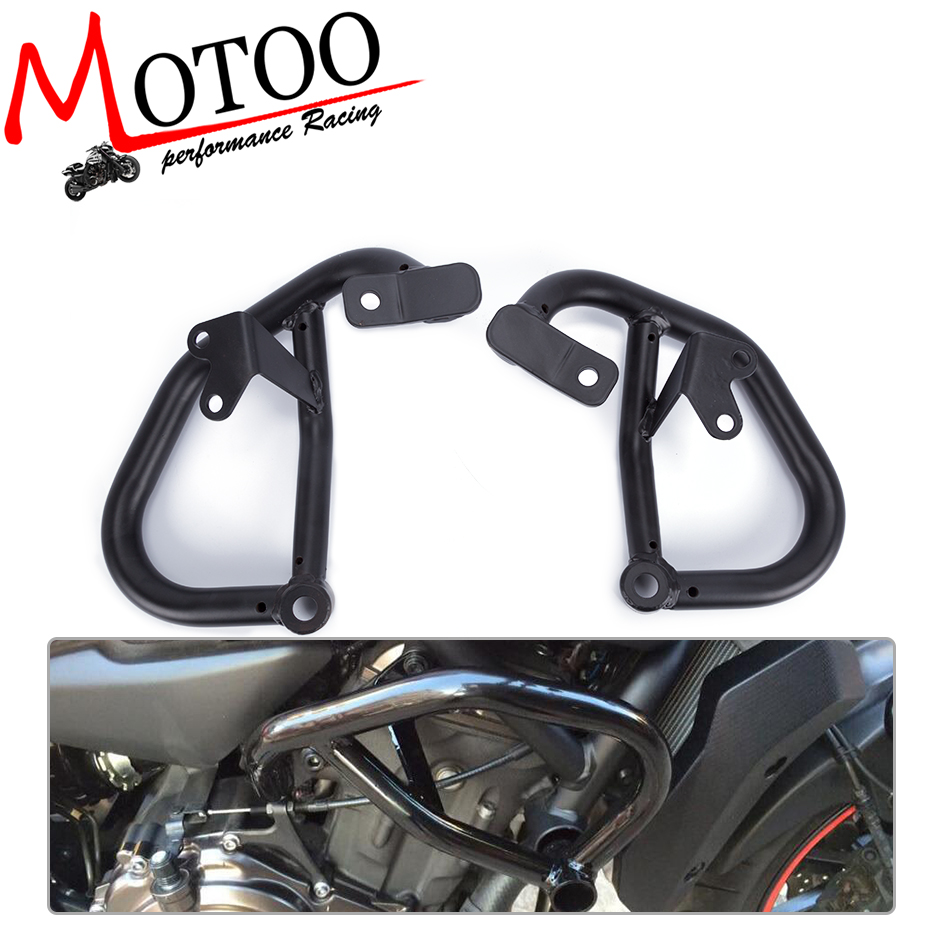 Motoo - Motorcycle Accessories For YAMAHA MT-07 FZ-07 2014-2016 Engine Protetive Guard Crash Bar Protector engine bumper guard crash bars protector steel for yamaha mt09 mt 09 fz07 fz 09 2014 2016 2014 2015 2016 motorcycle