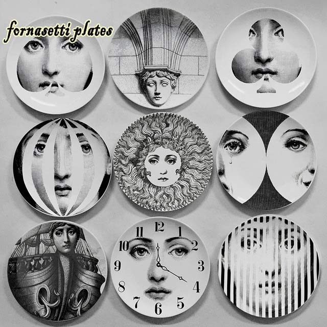2016 Christmas Decorations Italy Fornasetti Plates Decorative Plate 8 Inch Wall Home Decor In Bowls From Garden On Aliexpress