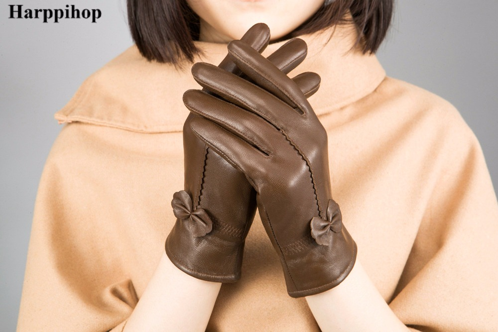 HTB1cnhmPpXXXXbVXpXXq6xXFXXXJ - women's genuine leather gloves red sheepskin gloves autumn and winter fashion female windproof gloves