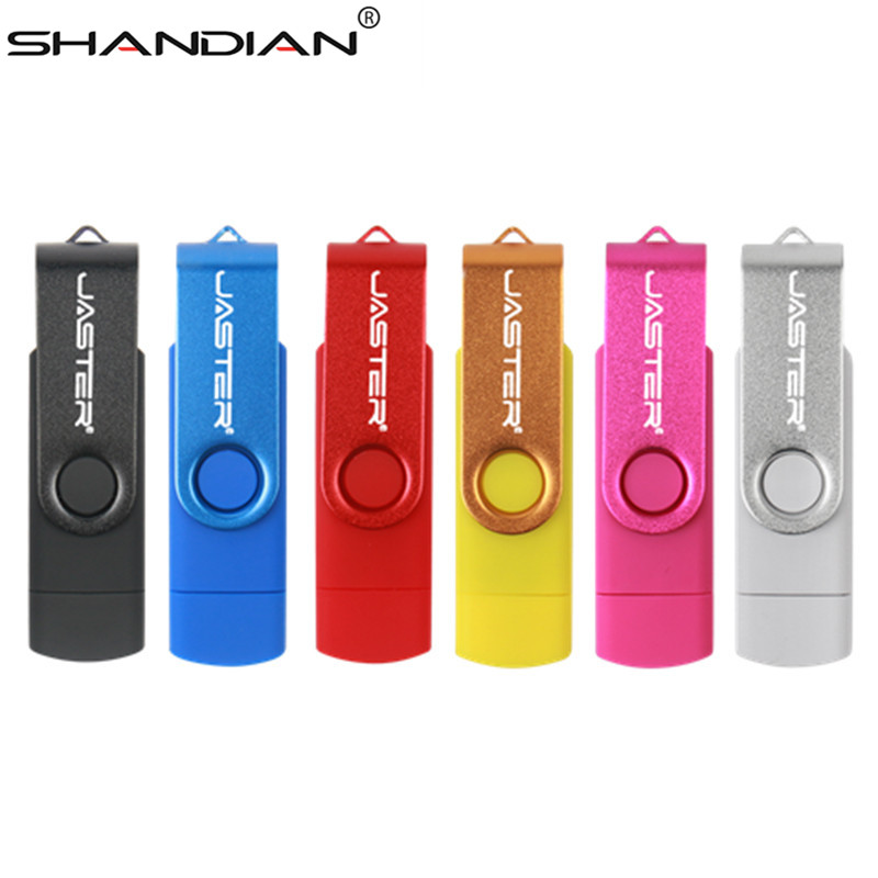 SHANDIAN Usb 2.0 OTG USB flash drive Smart Phone Tablet PC 4GB 8GB 16GB 32GB 64GB  Pendrives OTG Real Capacity Usb stick(China)