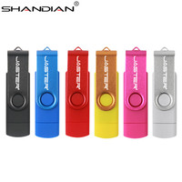 SHANDIAN Usb 2.0 OTG USB flash drive Smart Phone Tablet PC 4GB 8GB 16GB 32GB 64GB 128GB Pendrives OTG Real Capacity Usb stick
