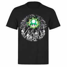 GIVE ME A LIFE MARIO SKULL REACHING DEAD UNISEX BLACK PH82 T-SHIRTFashion Design Free Shipping  Mens T Shirts Fashion