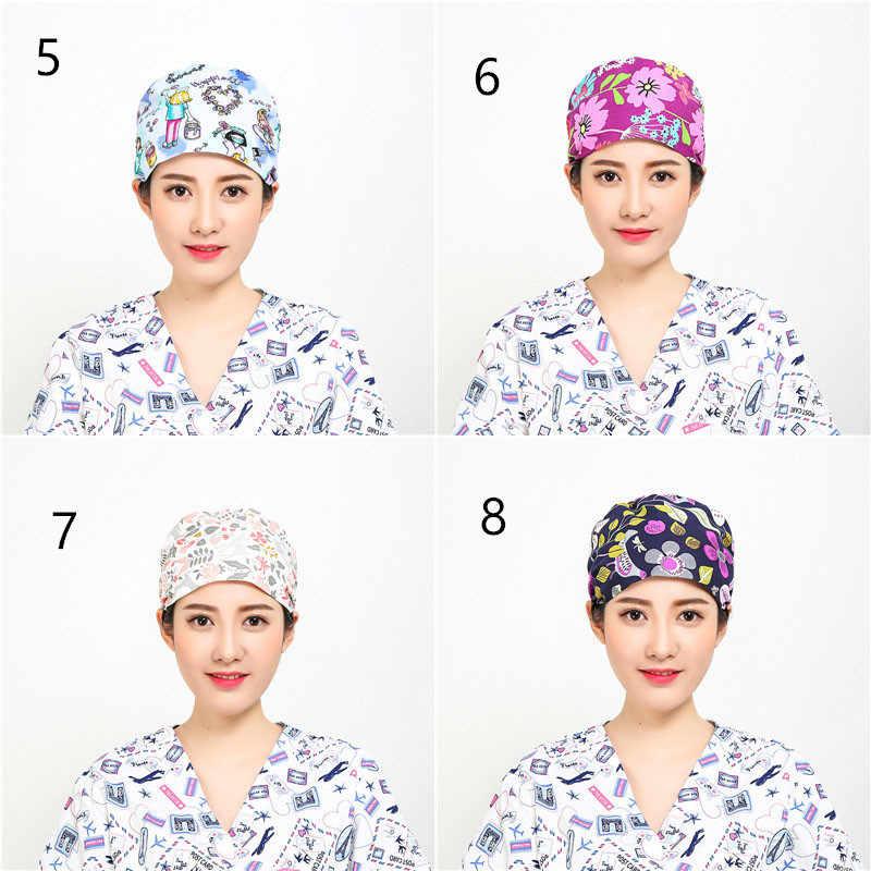 7a714920417 ... 4PCS Lot Hospital Nurse Surgical Cap Adjustable Surgical Scrub Cap  Cotton Student Lab Operation Room ...