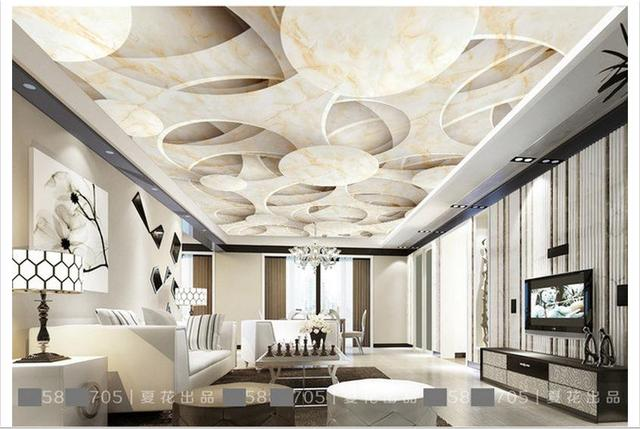 Customized Photo Wallpaper Ceiling Murals 3 D Stone Frescoes Wall Paper Beauty Room In Wallpapers From Home Improvement On