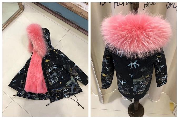 child winter real fur parkas coat (16)