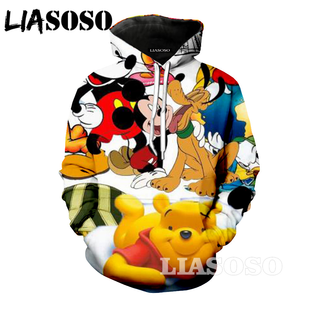 LIASOSO sweatshirt 3D Unisex Sweatshirt Men Brand Hoodie Comic Casual Tracksuit Fashion  ...