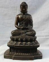 """USPS a EE. UU. S1883 11 """"Chino Budismo Tibetano de Bronce Puro Asiento Shakyamuni Buda Amitabha Estatua (B0328)"""