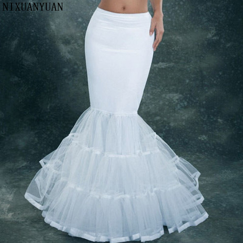 New Arrival Cheap Crinoline Lace Petticoat For Mermaid Dress 2019 Jupon Mariage Petticoat Crinolines Wedding Dress Petticoat