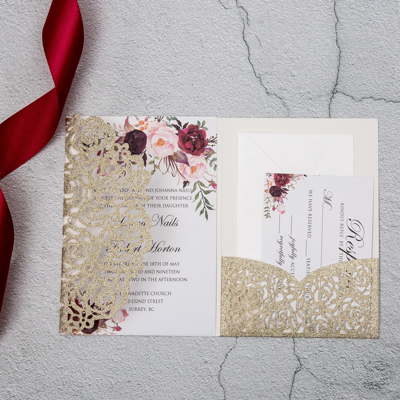 Wedding Invitation Card Cover , Pocket Evening Invitation