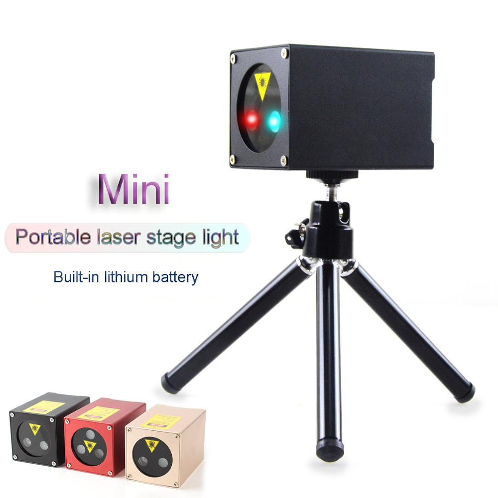 Portable Mini Green & Red & Blue Laser Stage Light Party Stage Equipment Sound Control Stage Light With Tripod Stand (3 Colors)