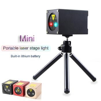 цена на Portable Mini Green & Red & Blue Laser Stage Light Party Stage Equipment Sound Control Stage Light with Tripod Stand (3 Colors)