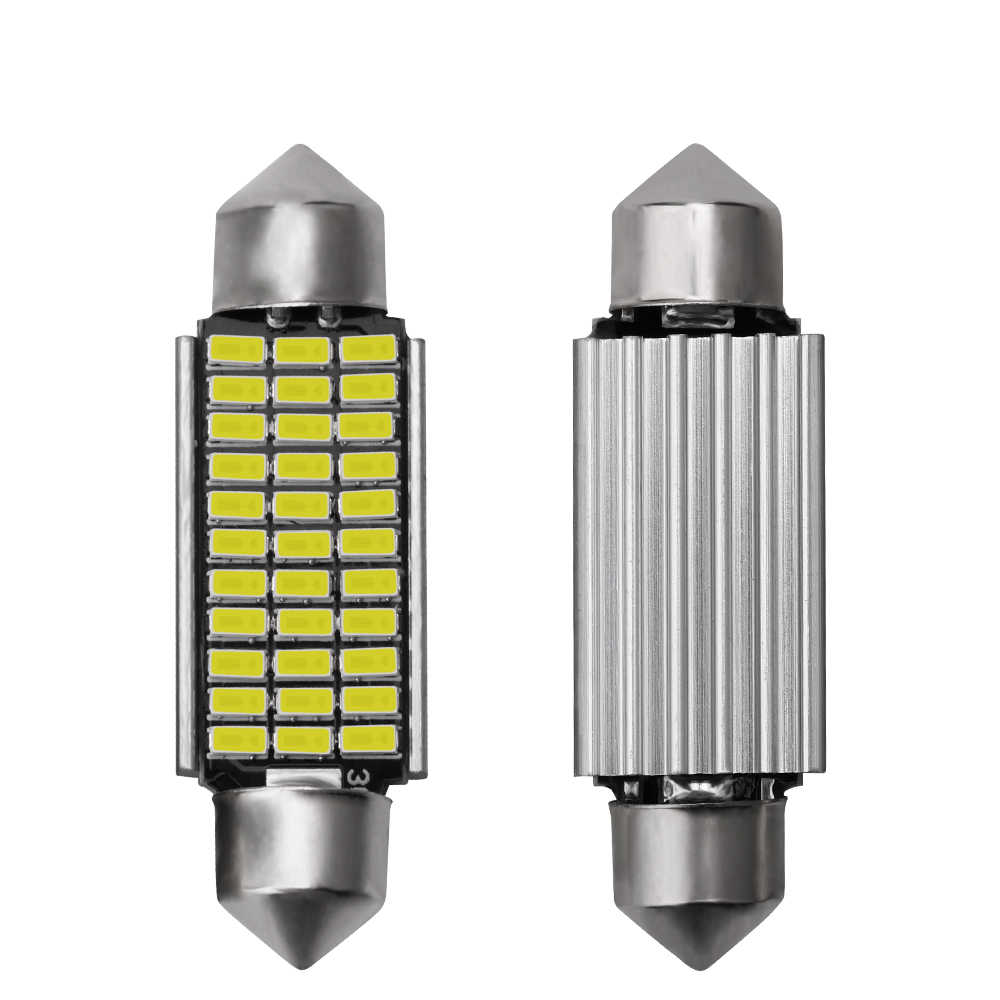 1 pcs 2019 C5W LED רכב פנים אור Canbus לויה 31mm 36mm 39mm 42mm LED נורות 6000 K לבן כיפת קריאת אור אוטומטי מנורת 12 V