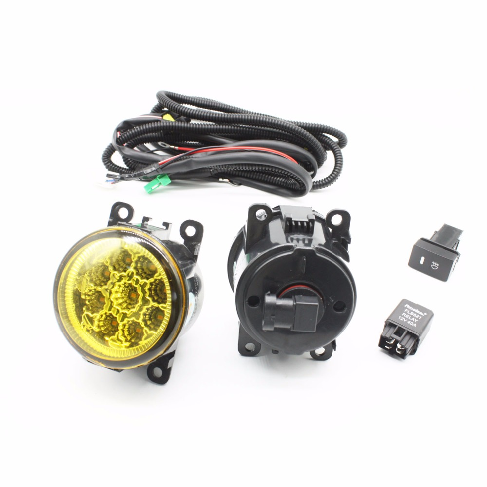 small resolution of h11 wiring harness sockets wire connector switch 2 fog lights drl front bumper led lamp yellow for nissan sentra 2007 2012
