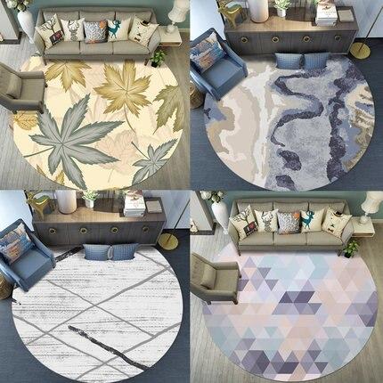 Rodada Tapete Norte Europeu Simples Moderna Sala de estar Quarto Mesa de Café Cesta de Suspensão Cadeira Do Computador Tapete de Cabeceira de Estudo Em Casa