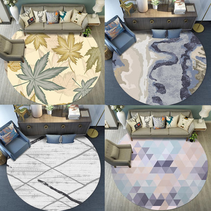 Round Carpet North European Simple Modern Living Room Coffee Table Bedroom Home Study Bedside Hanging Basket Computer Chair MatRound Carpet North European Simple Modern Living Room Coffee Table Bedroom Home Study Bedside Hanging Basket Computer Chair Mat
