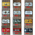 15x30 cm  vintage license plates  FAMOUS CAR GERMANY CAR VW  retro iron painting wall sticker number plate metal craft DECOR