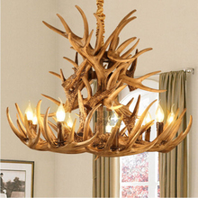 Nordic Antlers Resin LOFT Chandelier Lamp Modern LED Antler Lustre E14 Vintage Hanging LLighting kitchen fixture