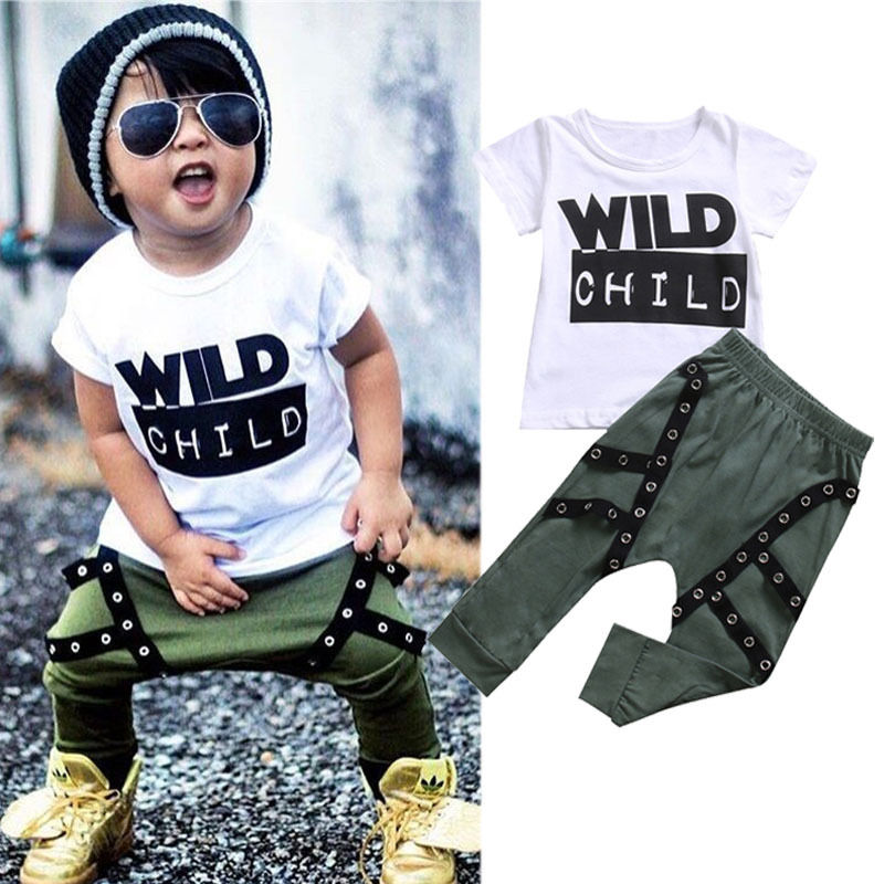 Autumn Summer Kids Clothes Sets Short Sleeve Boy T-shirt Pants Suit Clothing Set Newborn Sport Suits Children Baby Boy Clothes 2017 new baby boys clothing set 2pcs kids clothes cartoon cat cute boy suit fashion new boy s summer t shirt pants toddler suits
