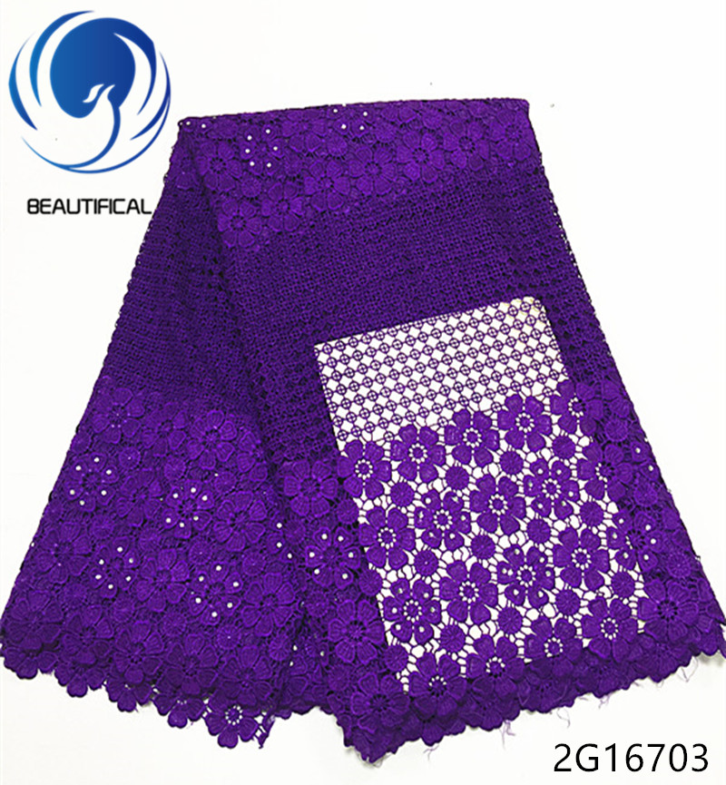 Beautifical guipure lace dress guipure lace fabric blue african guipure cord lace fabric 2018 flower style 5yards piece 2G167 in Lace from Home Garden