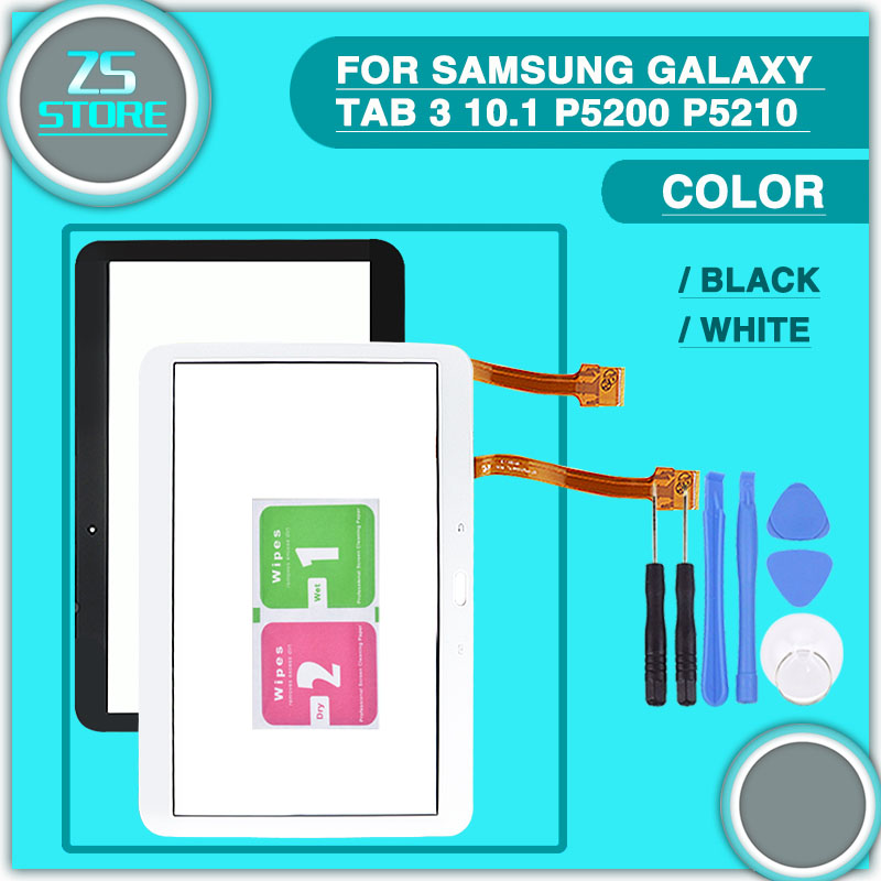 new P5200 Touch screen For Samsung Galaxy Tab 3 10.1 P5210 P5220 touch panel Digitizer Sensor Glass Replacement with tool original for samsung galaxy tab 3 p5200 p5210 lcd display panel touch screen digitizer assembly