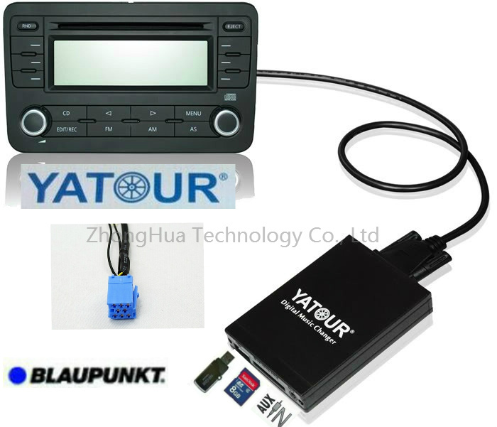 все цены на Yatour Digital Music Car Audio USB Stereo Adapter MP3 AUX Bluetooth for Blaupunkt Rover 25/45/MGF interface CD Changer Player