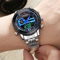 NAVIFORCE Men's Fashion LED Digital Quartz Dual Wristwatches Men Top Brand Waterproof Sport Watches Clock Male Relogio Masculino