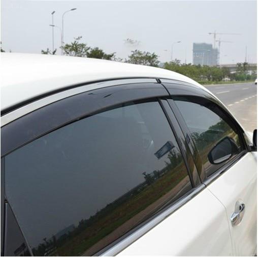 RKAC Custom fit 4pcs Window Sun Visor Deflectors Rain Guard Cover Trim For Nissan  Altima Teana 2013 2014 2015 2016 stickers 930068e18e5