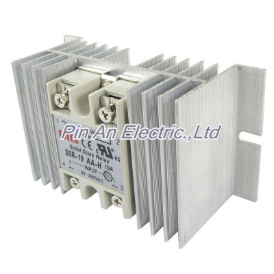 цена на Single Phase Solid State Relay SSR 10A 24 380V DC 80 280V AC w Aluminum Heatsink