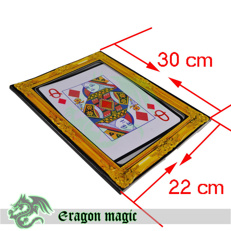 Ace Love Queen Magic Tricks Free Shipping Magia Trick Toys Close up Magie