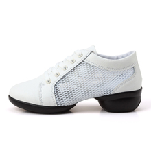 Maultby Women White Dance Shoes Jazz Hip Hop Shoes Sneakers for Woman Platform Dancing Ladies Shoes #DS4608W