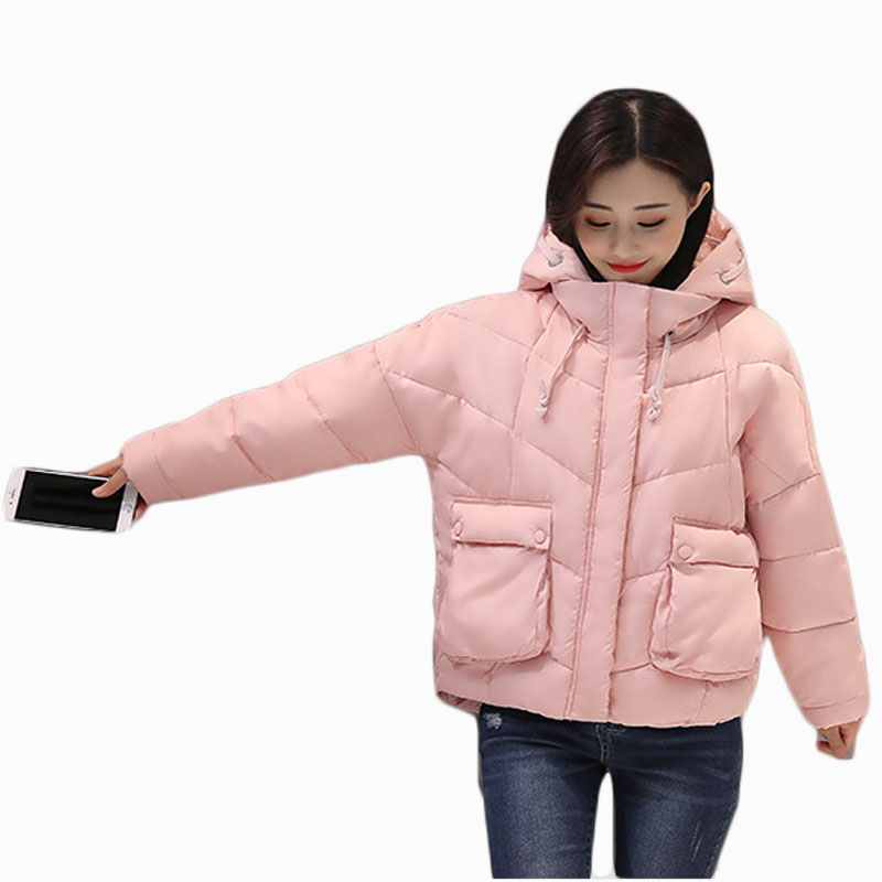 2017 NEW HOT SALE WOMEN WINTER JACKER SHORT HOODED THICKEN WARM FEMALE PARKAS COTTON WADDED COAT HIGH QUALITY ZL597