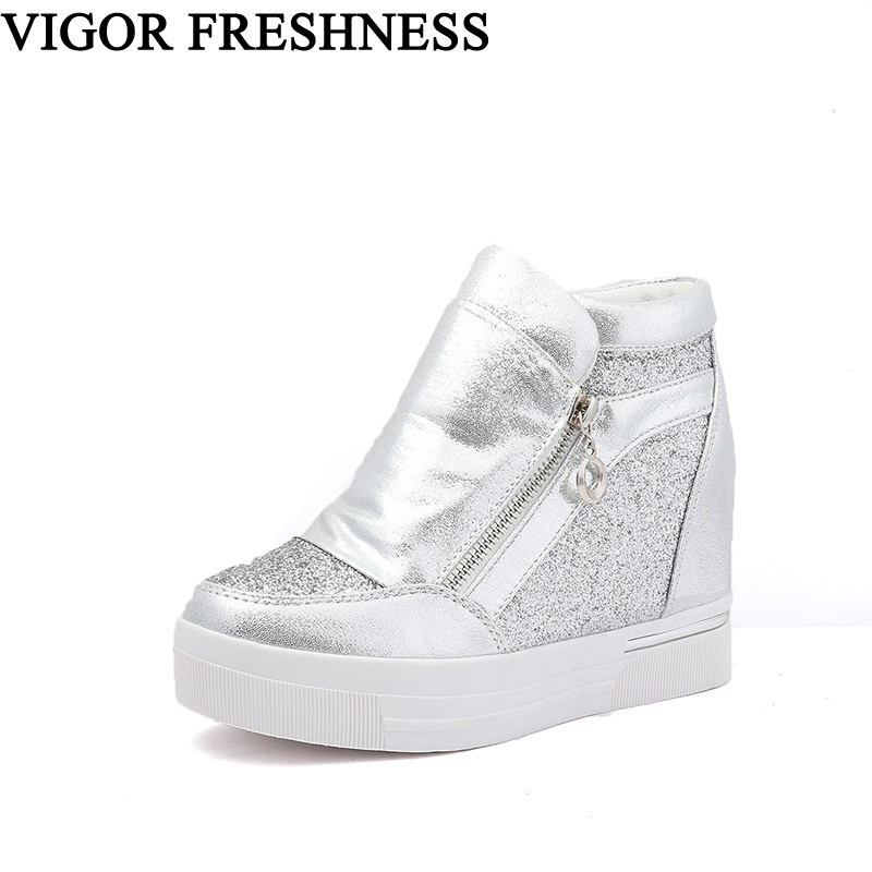 VIGOR FRESHNESS Woman Shoes Wedges Pumps Women Vulcanized Shoes Platform White Sneakers Spike Heels Pumps Autumn Shoes WY36  VIGOR FRESHNESS Woman Shoes Wedges Pumps Women Vulcanized Shoes Platform White Sneakers Spike Heels Pumps Autumn Shoes WY36